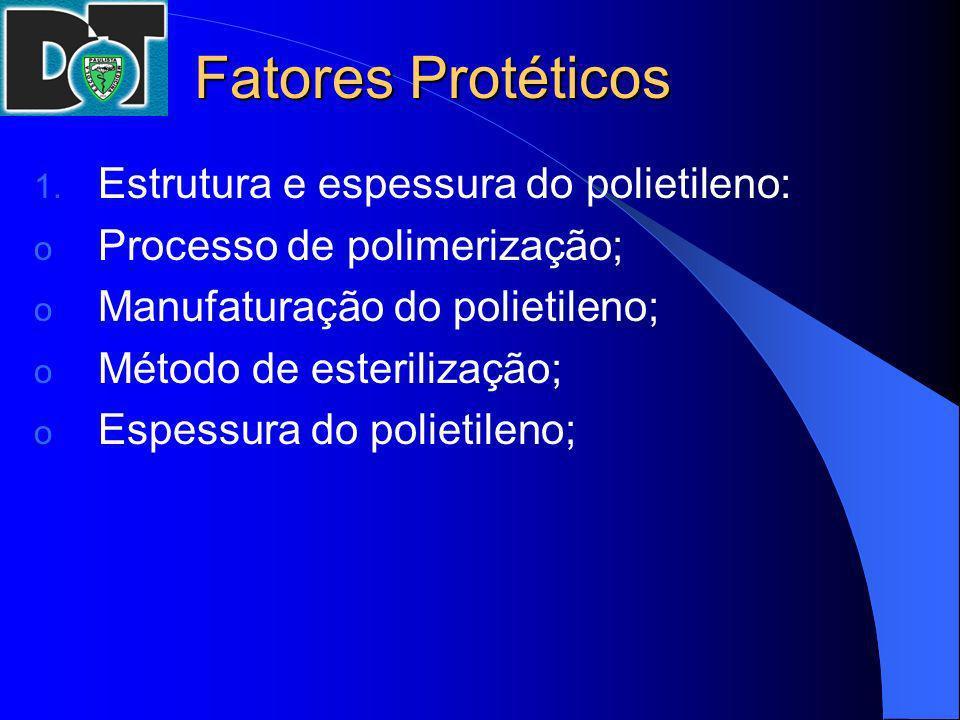 Fatores Protéticos Estrutura e espessura do polietileno: