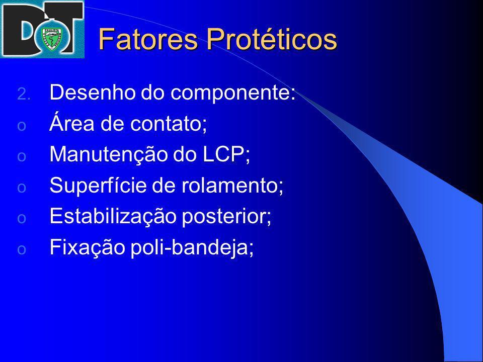 Fatores Protéticos Desenho do componente: Área de contato;