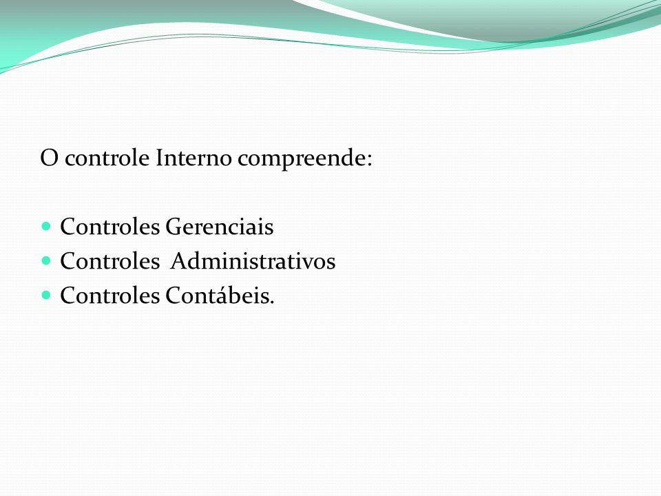 O controle Interno compreende: