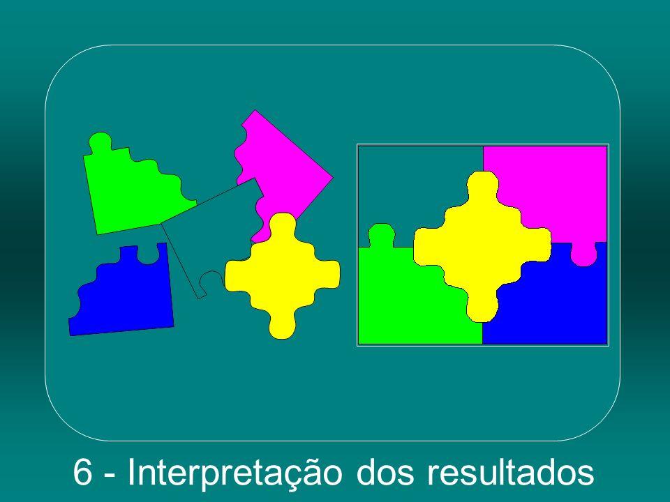 6 - Interpretação dos resultados