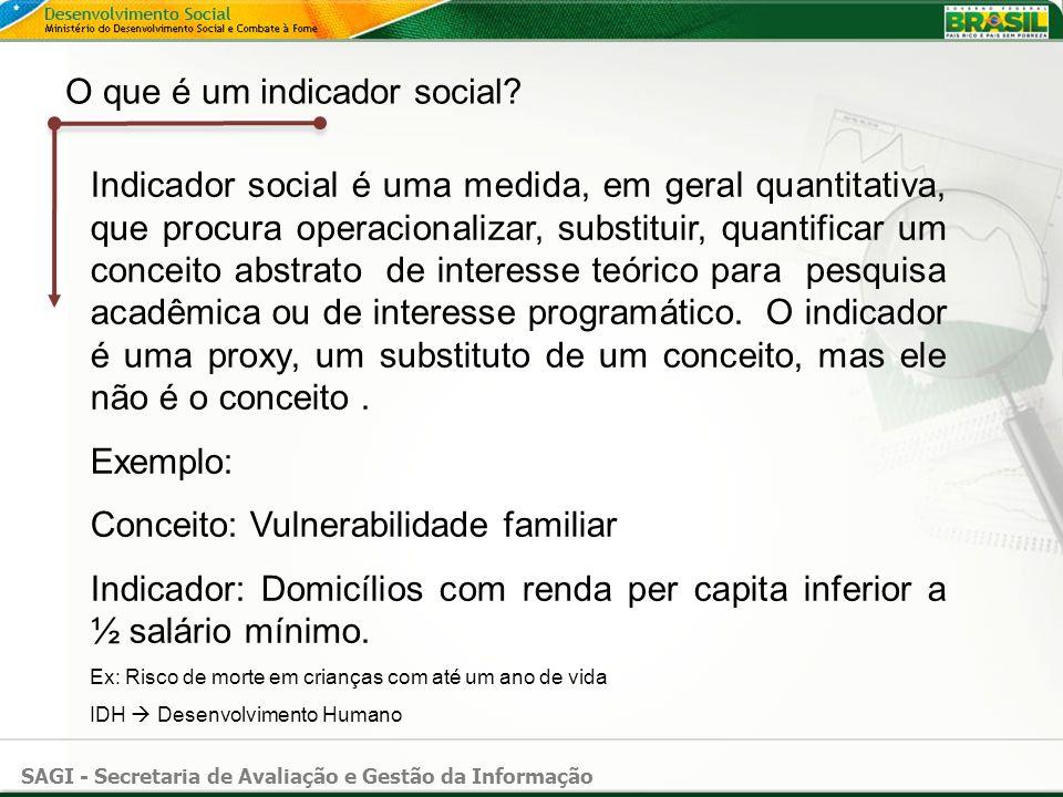 O que é um indicador social