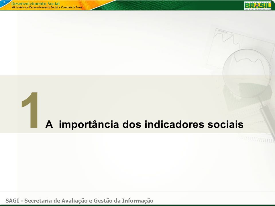 1A importância dos indicadores sociais