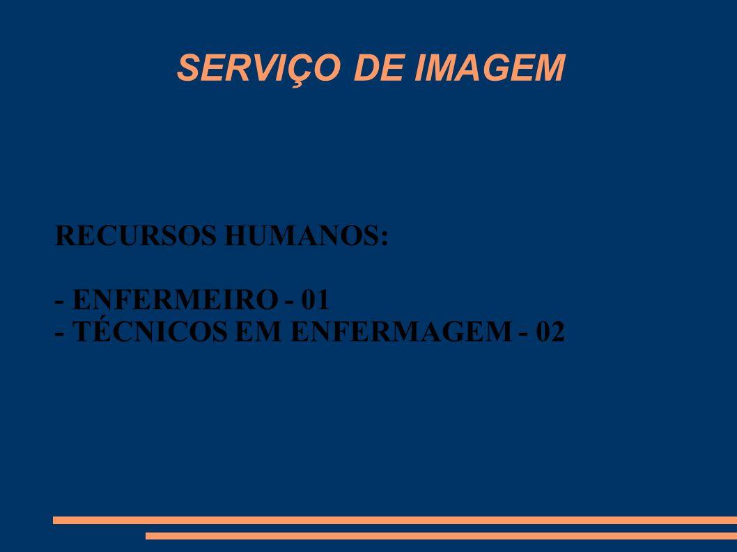 RECURSOS HUMANOS: - ENFERMEIRO - 01 - TÉCNICOS EM ENFERMAGEM - 02