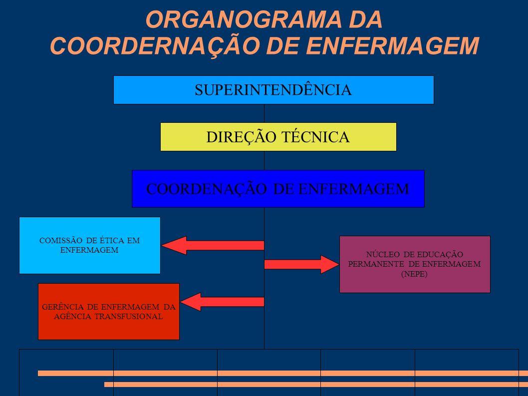 ORGANOGRAMA DA COORDERNAÇÃO DE ENFERMAGEM