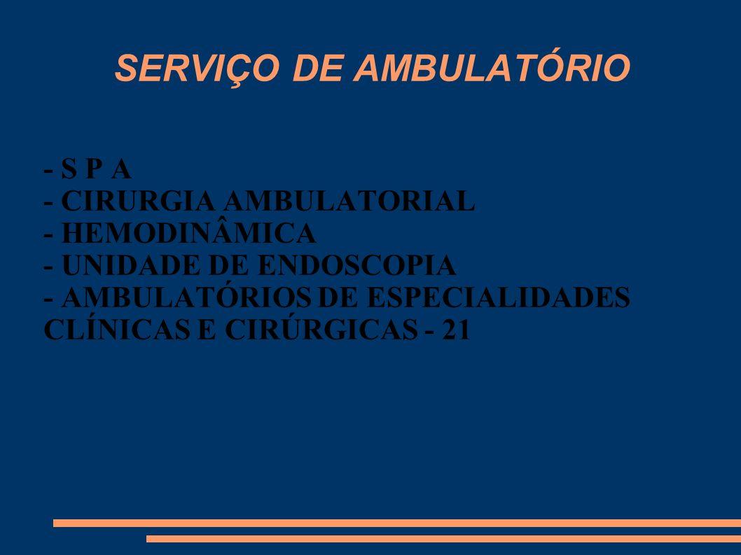 SERVIÇO DE AMBULATÓRIO