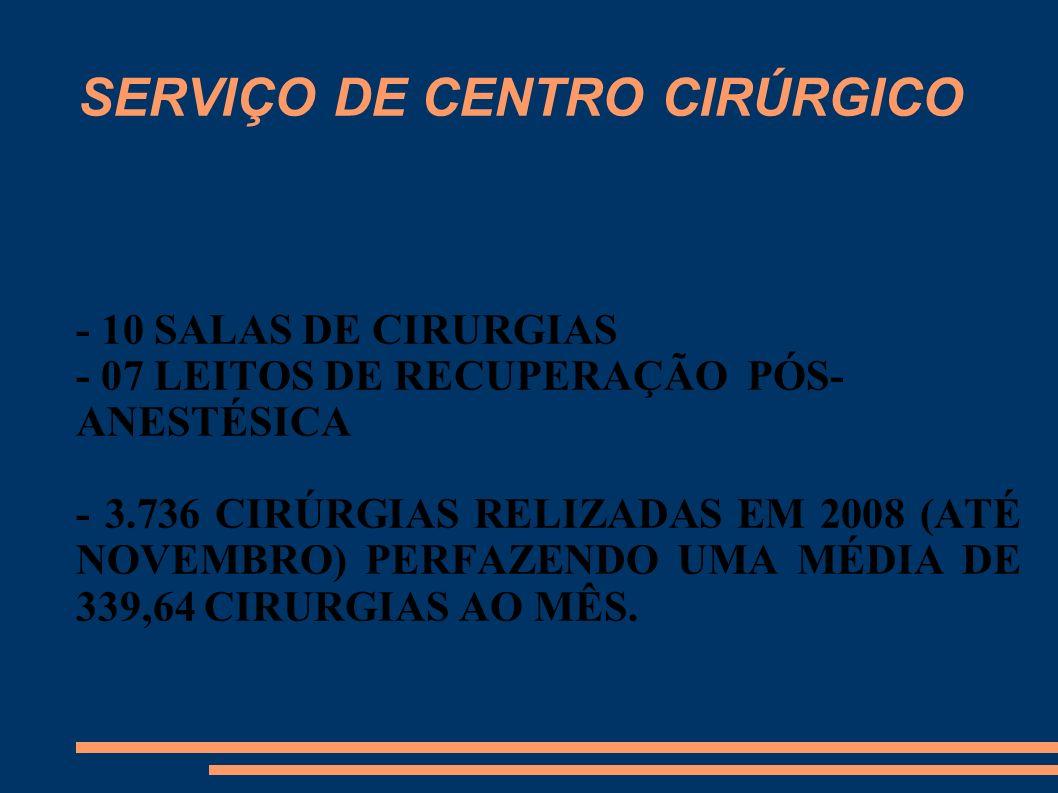 SERVIÇO DE CENTRO CIRÚRGICO