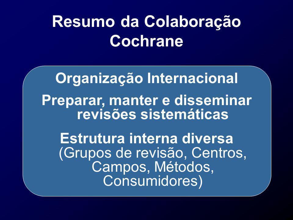 Resumo da Colaboração Cochrane