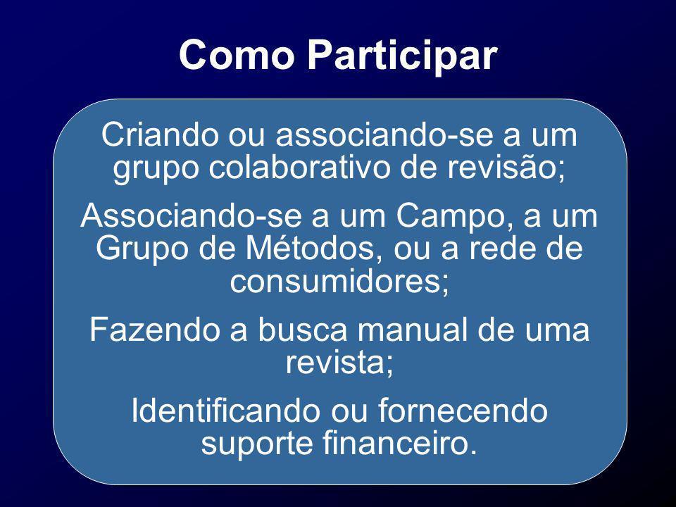 Como Participar Criando ou associando-se a um grupo colaborativo de revisão;