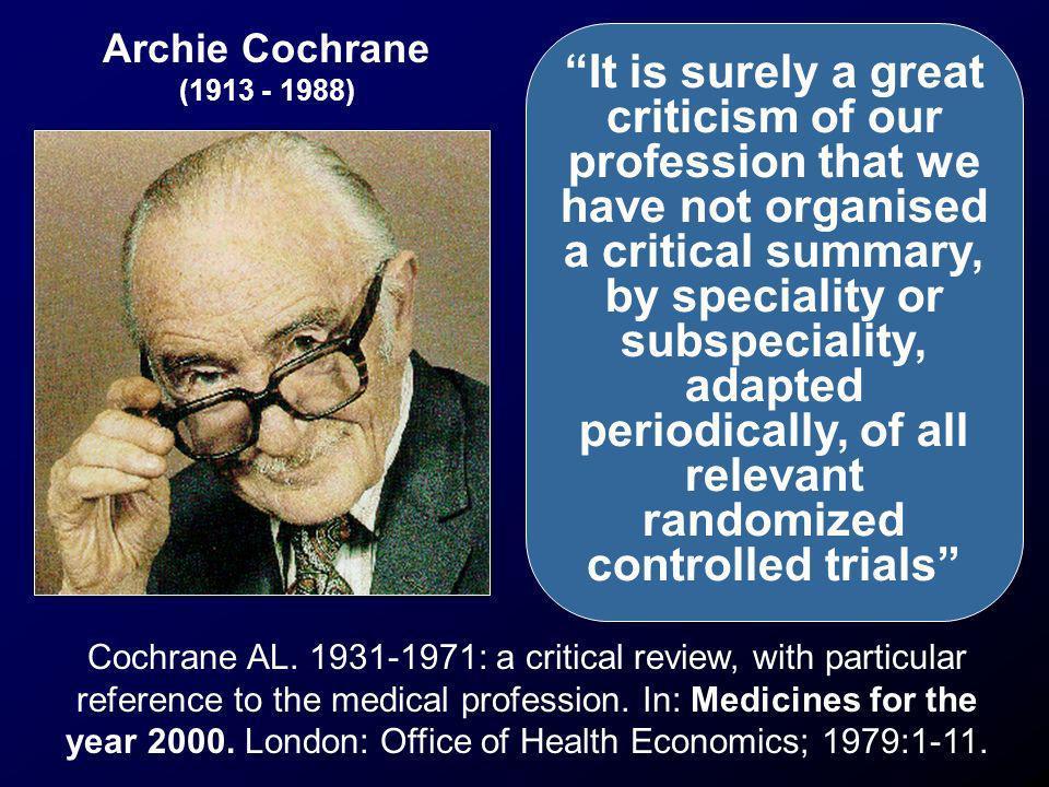 Archie Cochrane (1913 - 1988)