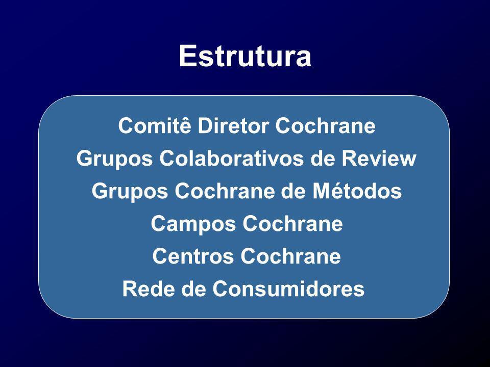 Estrutura Comitê Diretor Cochrane Grupos Colaborativos de Review