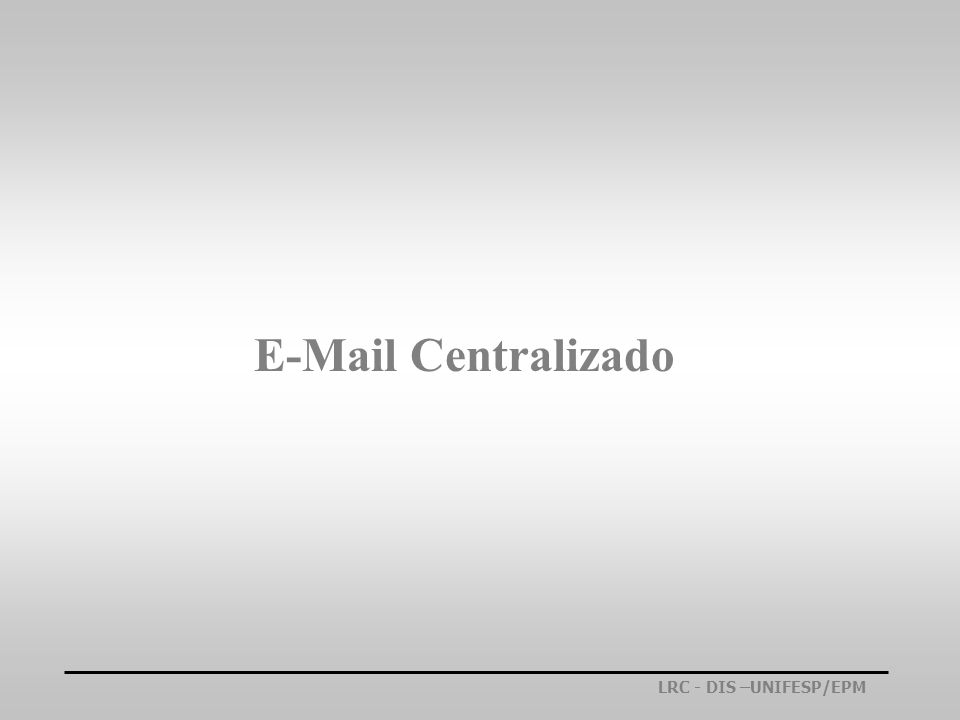 E-Mail Centralizado