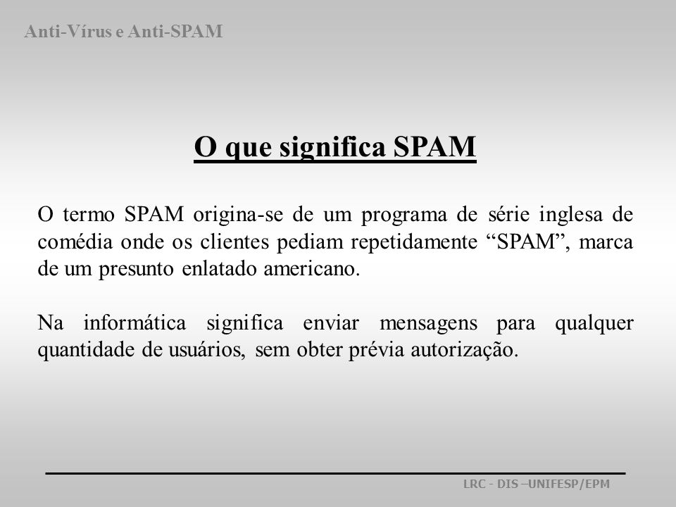 Anti-Vírus e Anti-SPAM