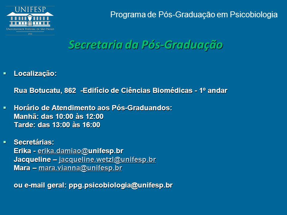 Secretaria da Pós-Graduação