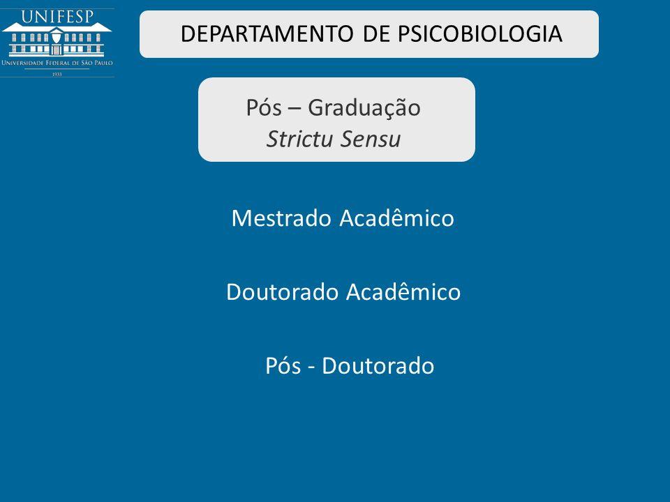 DEPARTAMENTO DE PSICOBIOLOGIA