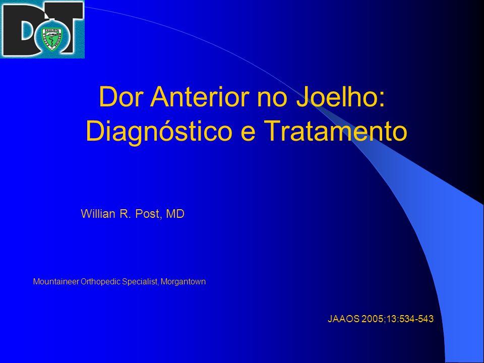 Dor Anterior no Joelho: Diagnóstico e Tratamento