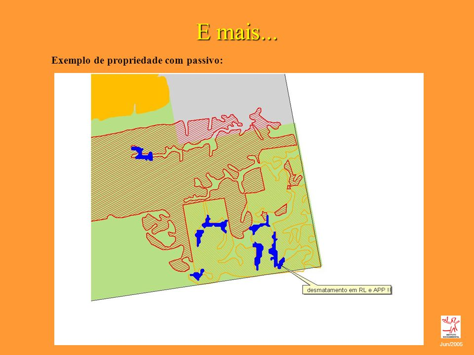E mais... Exemplo de propriedade com passivo: Jun/2005