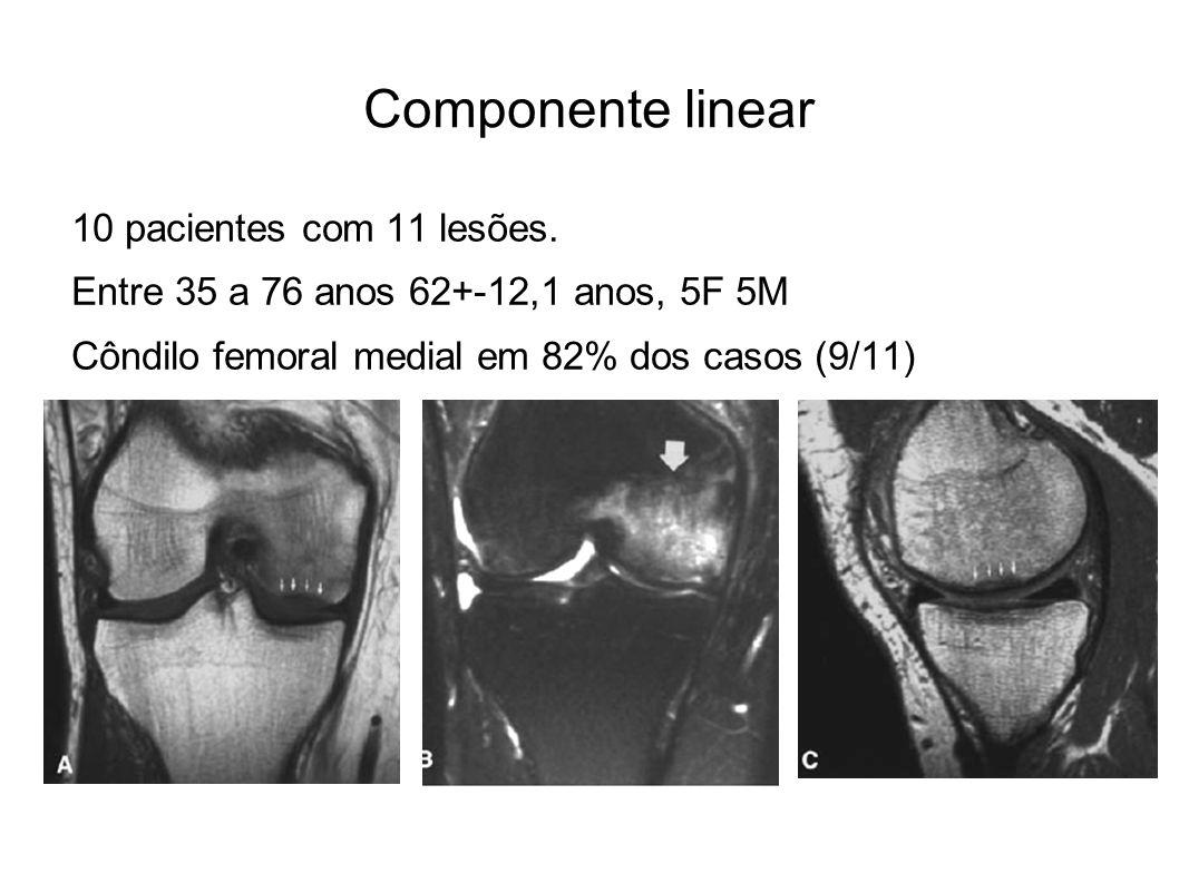 Componente linear 10 pacientes com 11 lesões.