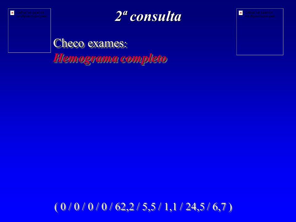 2ª consulta Checo exames: Hemograma completo