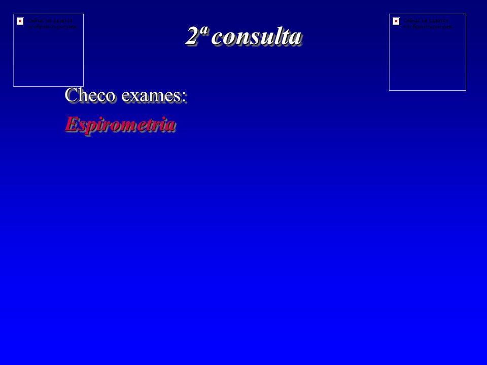 2ª consulta Checo exames: Espirometria
