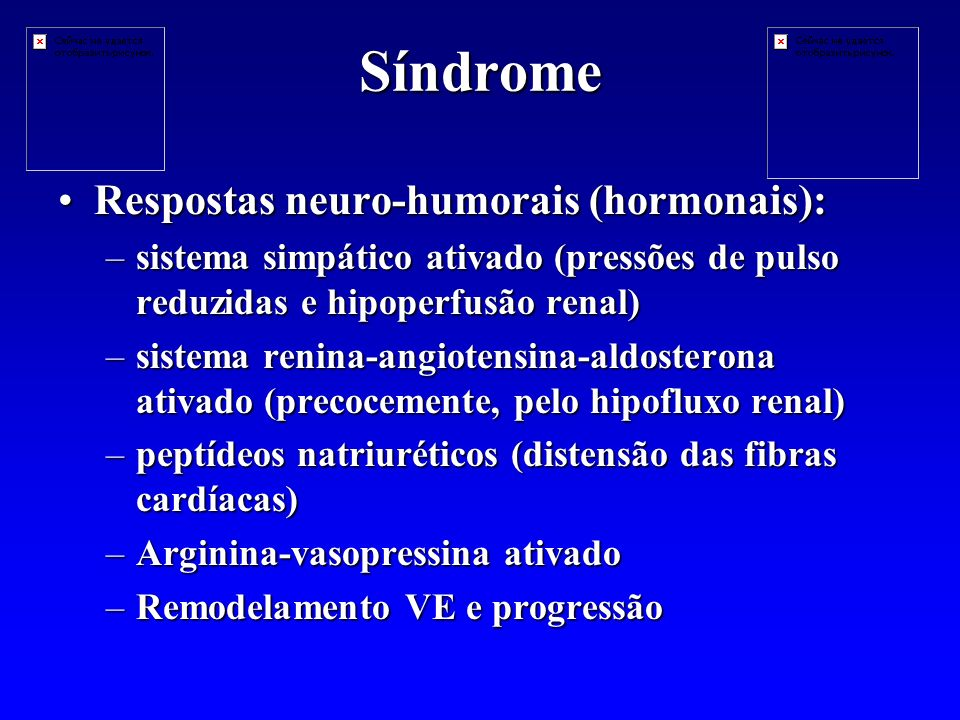 Síndrome Respostas neuro-humorais (hormonais):