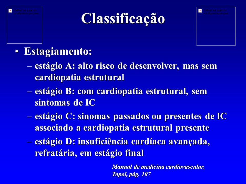 Classificação Estagiamento: