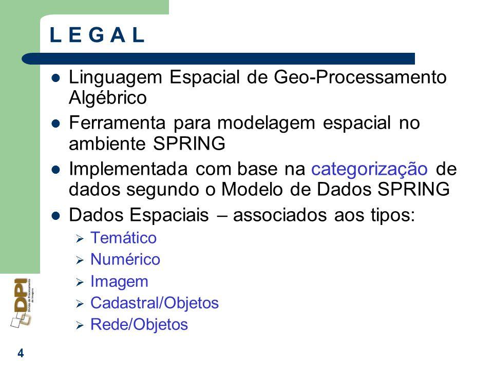 L E G A L Linguagem Espacial de Geo-Processamento Algébrico
