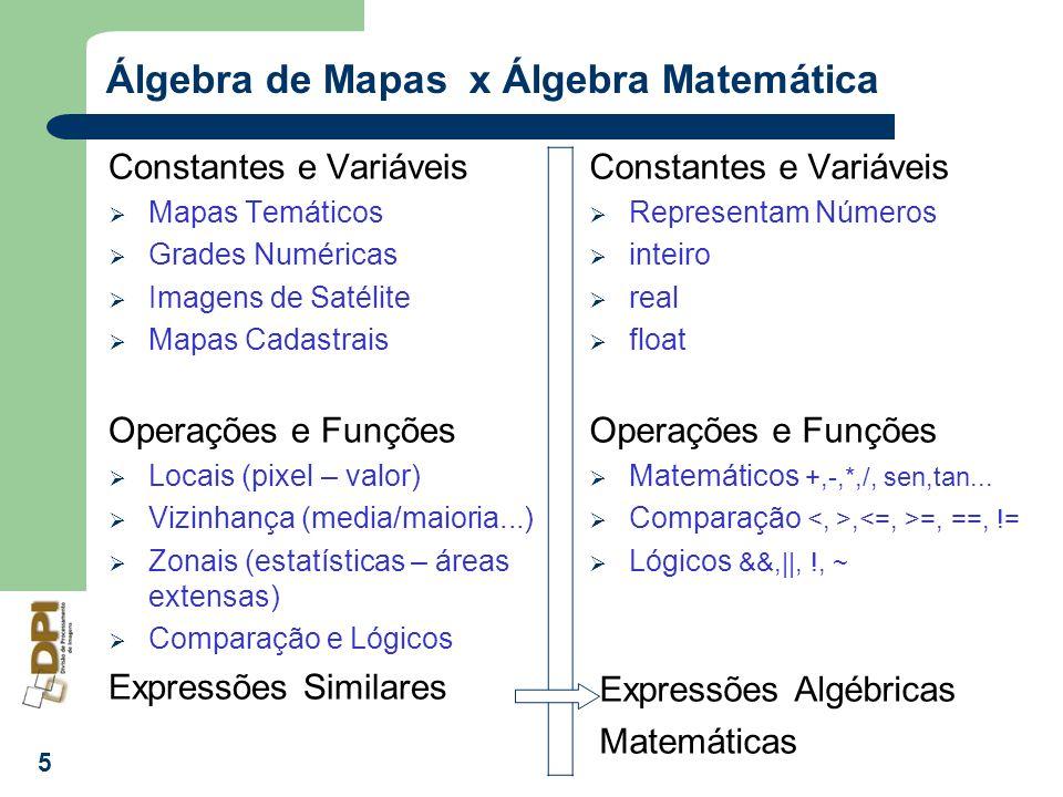 Álgebra de Mapas x Álgebra Matemática