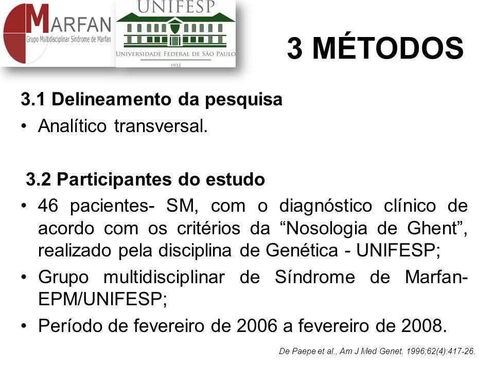 3 MÉTODOS 3.1 Delineamento da pesquisa Analítico transversal.
