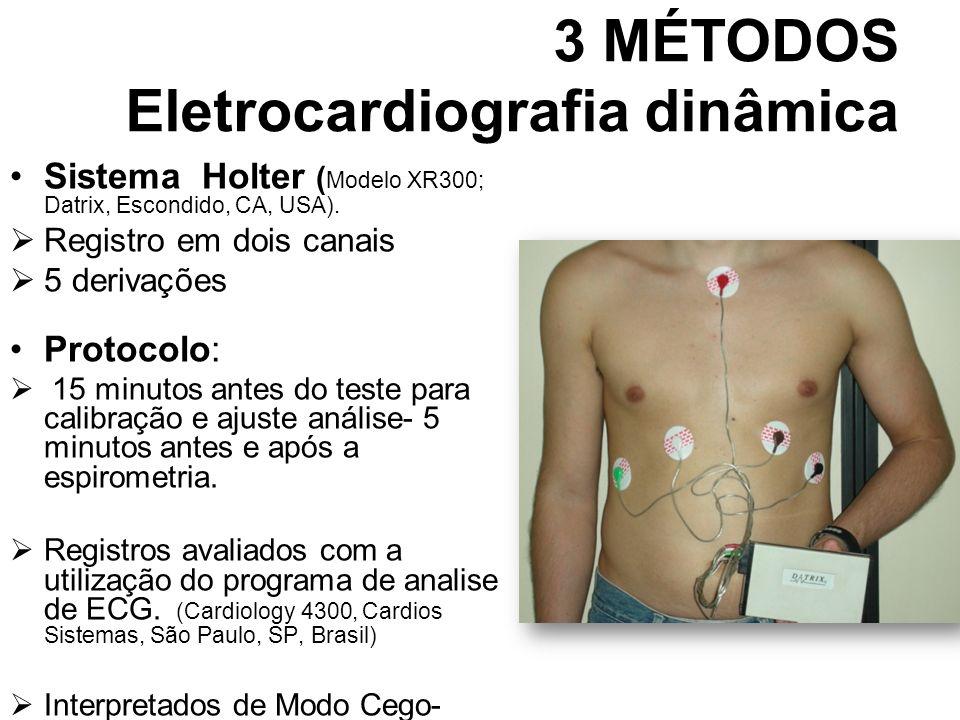 3 MÉTODOS Eletrocardiografia dinâmica