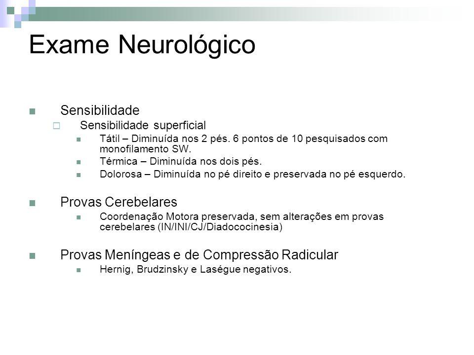 Exame Neurológico Sensibilidade Provas Cerebelares