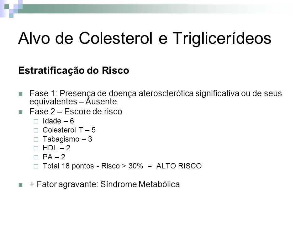 Alvo de Colesterol e Triglicerídeos
