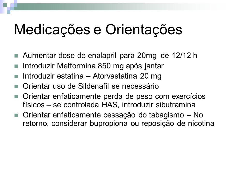 Medicações e Orientações