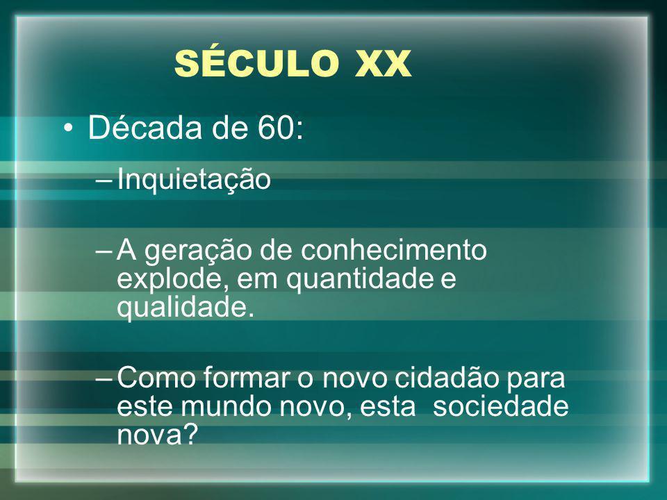 SÉCULO XX Década de 60: Inquietação