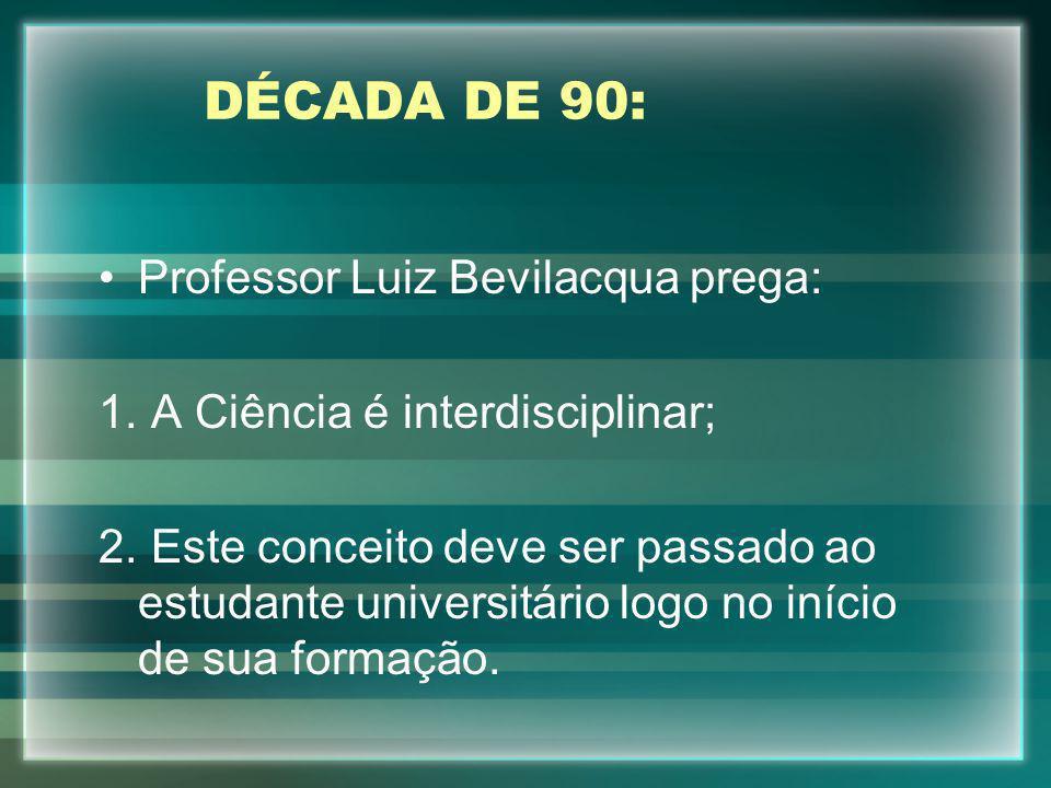 DÉCADA DE 90: Professor Luiz Bevilacqua prega: