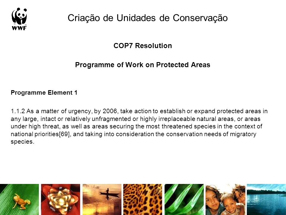 Criação de Unidades de Conservação