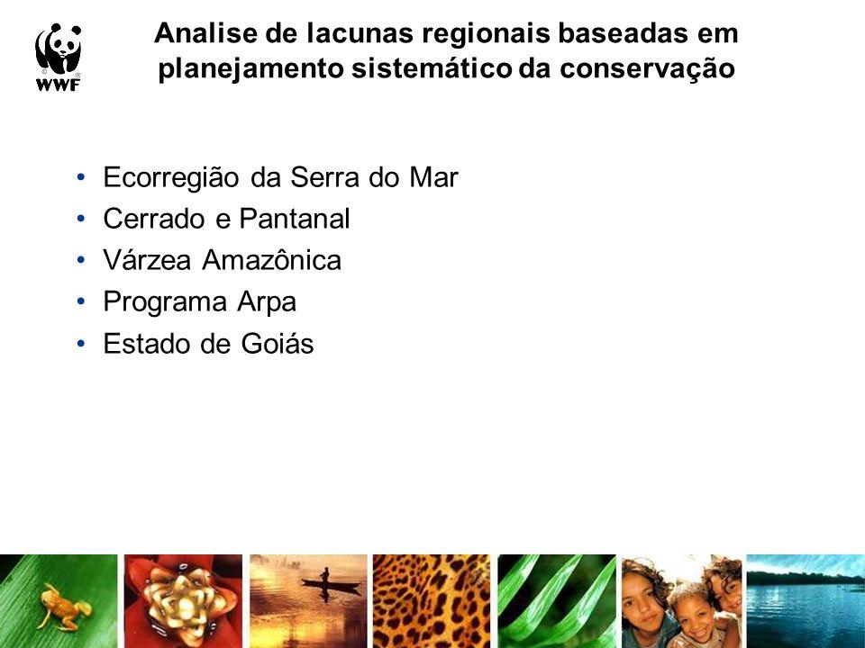 Analise de lacunas regionais baseadas em planejamento sistemático da conservação
