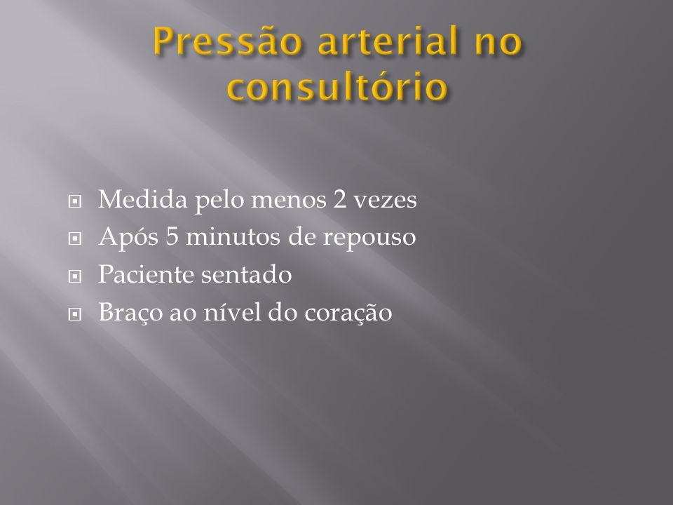 Pressão arterial no consultório