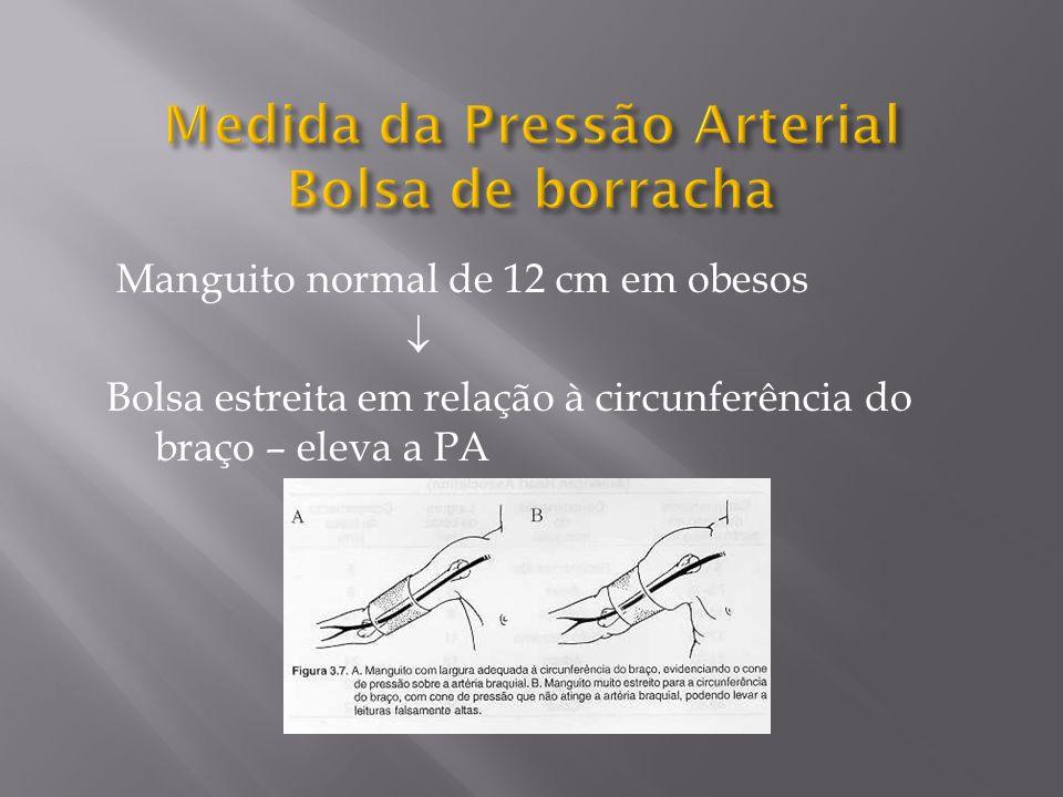 Medida da Pressão Arterial Bolsa de borracha