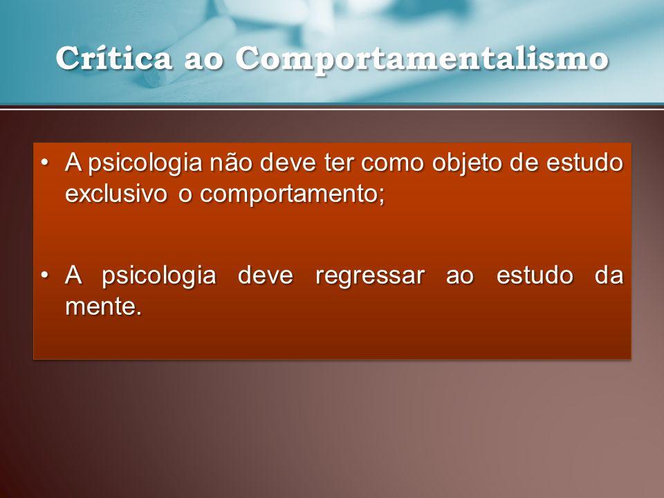 Crítica ao Comportamentalismo