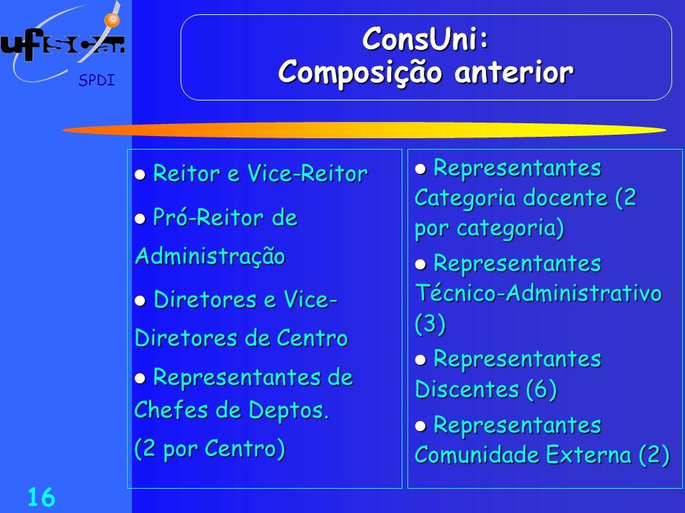 ConsUni: Composição anterior