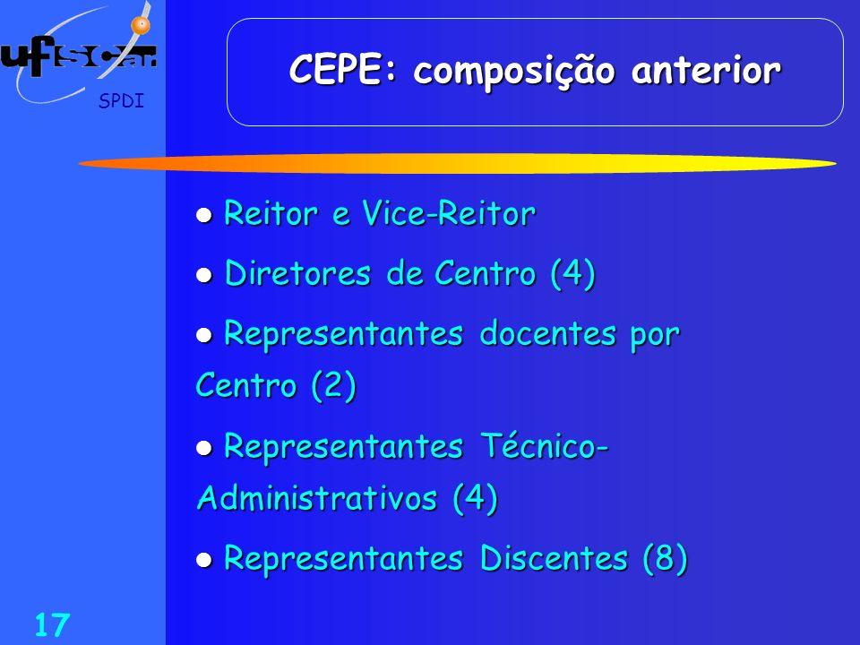 CEPE: composição anterior