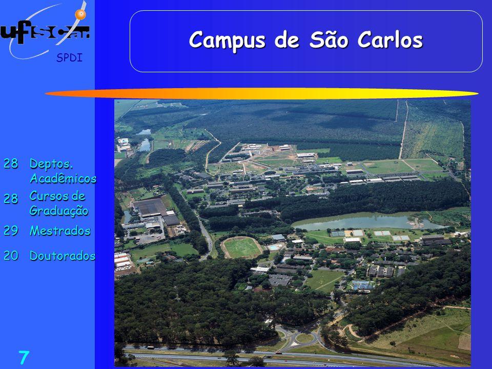 Campus de São Carlos 28 Deptos. Acadêmicos Cursos de Graduação 29