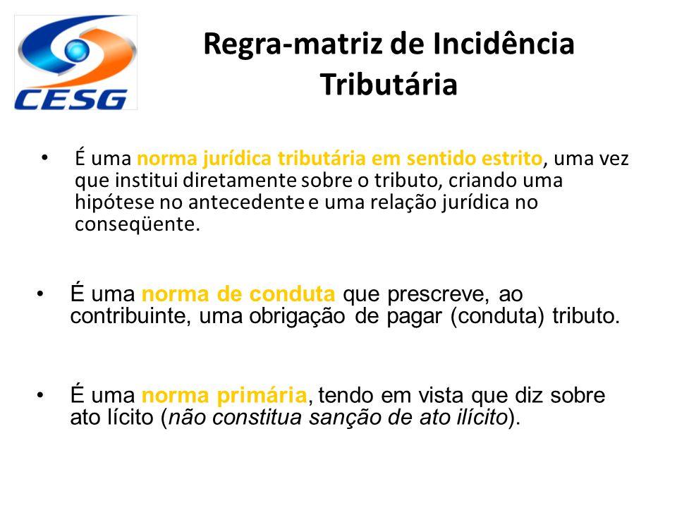 Regra-matriz de Incidência Tributária