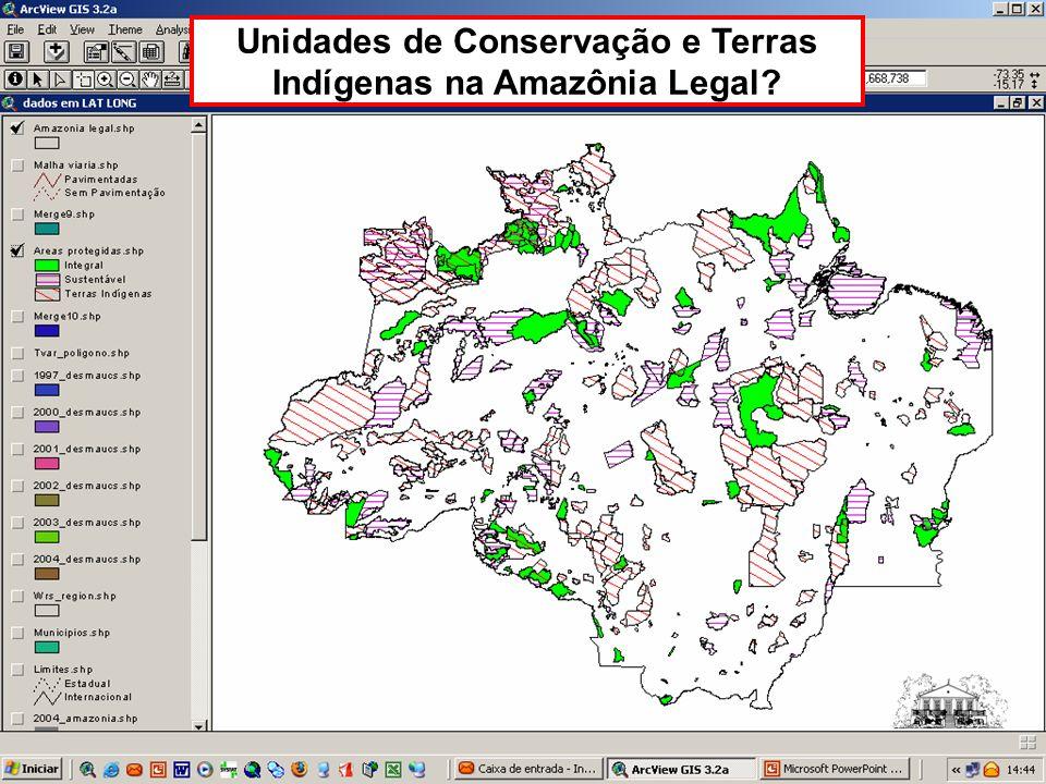 Unidades de Conservação e Terras Indígenas na Amazônia Legal