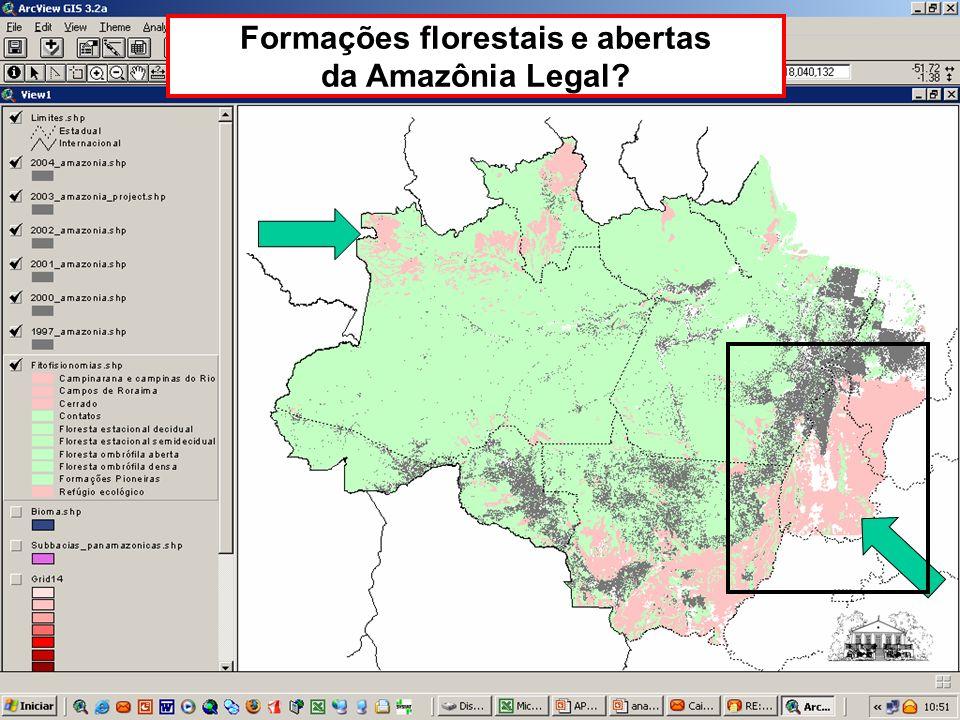 Formações florestais e abertas