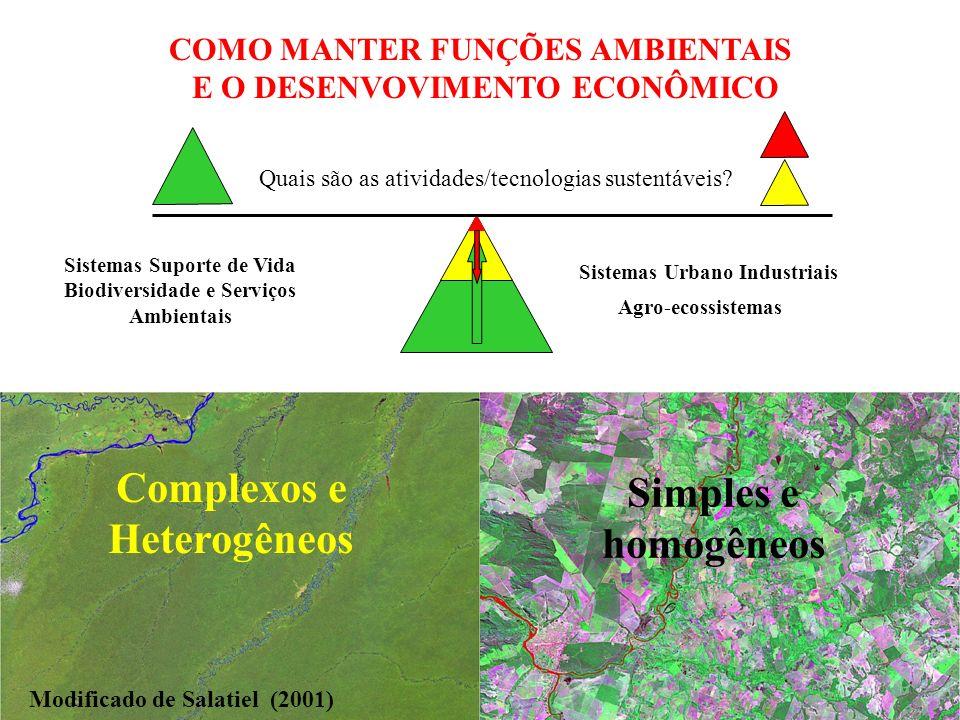 Complexos e Heterogêneos Simples e homogêneos