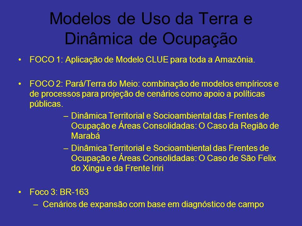 Modelos de Uso da Terra e Dinâmica de Ocupação