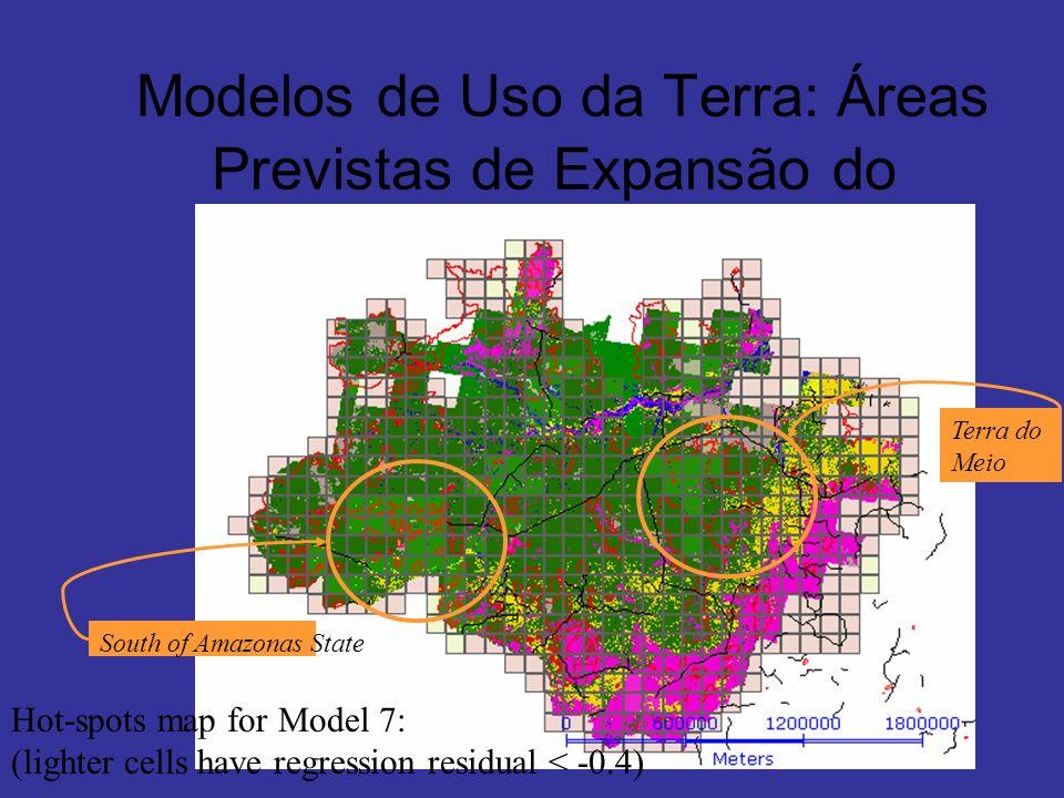 Modelos de Uso da Terra: Áreas Previstas de Expansão do Desmatamento