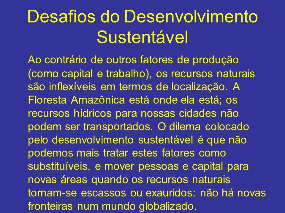 Desafios do Desenvolvimento Sustentável