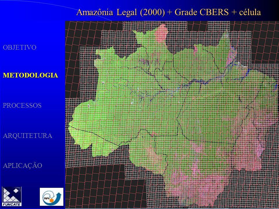 Amazônia Legal (2000) + Grade CBERS + célula